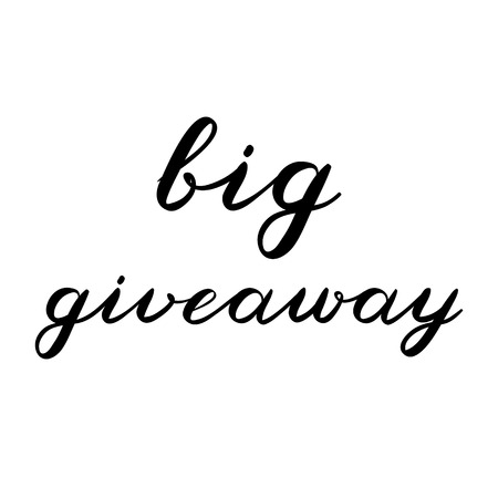giveaway: Big giveaway brush lettering. Cute handwriting, can be used for promo banners for social media contests, special offers and more.