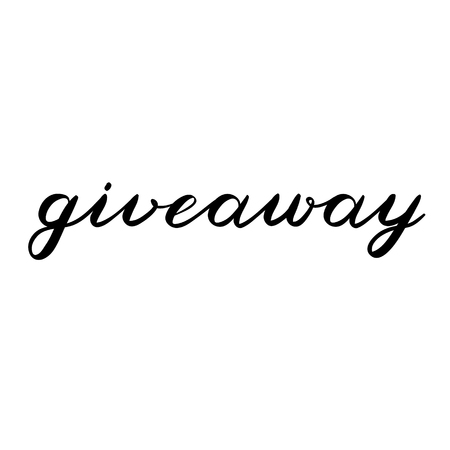 freebie: Giveaway brush lettering. Cute handwriting, can be used for promo banners for social media contests, special offers and more.