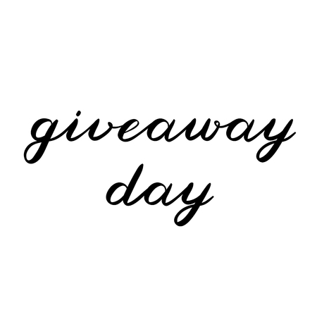 giveaway: Giveaway day brush lettering. Cute handwriting, can be used for promo banners for social media contests, special offers and more.