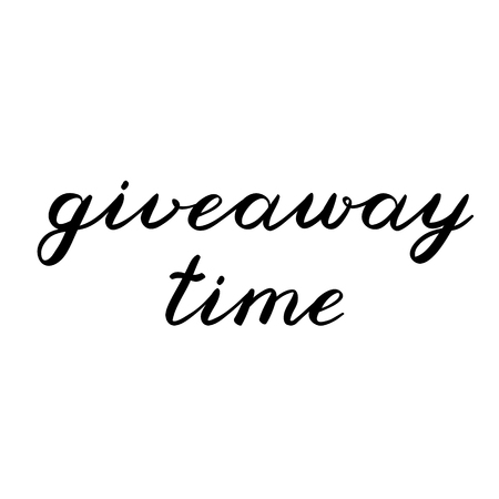giveaway: Giveaway time brush lettering. Cute handwriting, can be used for promo banners for social media contests, special offers and more. Illustration