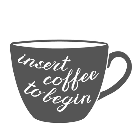 in insert: Insert coffee to begin brush lettering. Cute handwriting, can be used for greeting cards, scrapbooks, photo overlays and more.