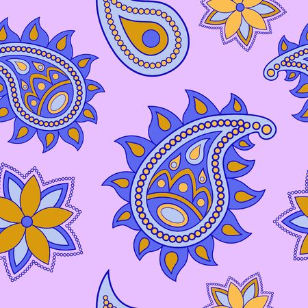Paisley pattern. Decorative ornament backdrop for fabric, textile, wrapping paper, card, invitation or wallpaper. Seamless background.