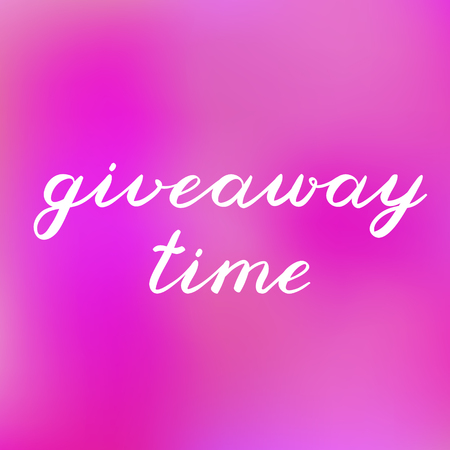 freebie: Giveaway time brush lettering. Cute handwriting on blurred background, can be used for promo banners for social media contests, special offers and more. Illustration