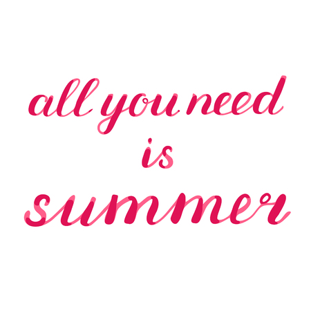 sumer: All you need is sommer lettering. Brush hand lettering. Great for beach tote bags, t-shirts, holiday clothes, posters, cards and more.