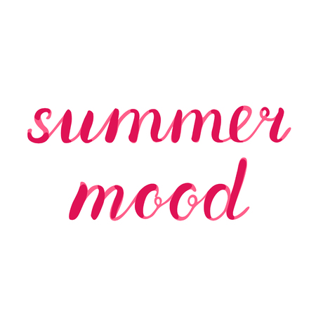 Summer mood lettering. Brush hand lettering. Great for beach tote bags, swimwear, holiday clothes, posters, and more.