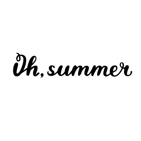 Oh, summer. Brush hand lettering. Handwritten words. Can be used for photo overlays, home decor, posters, holiday clothes, cards and more.
