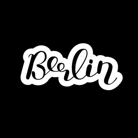 Berlin. Brush hand lettering. Modern calligraphy. Can be used for photo overlays, posters, holiday clothes, cards and more.