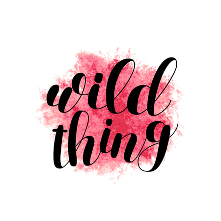 Wild thing. Brush lettering. Inspiring quote. Motivating modern calligraphy. Can be used for photo overlays, posters, holiday clothes, cards and more. Illusztráció