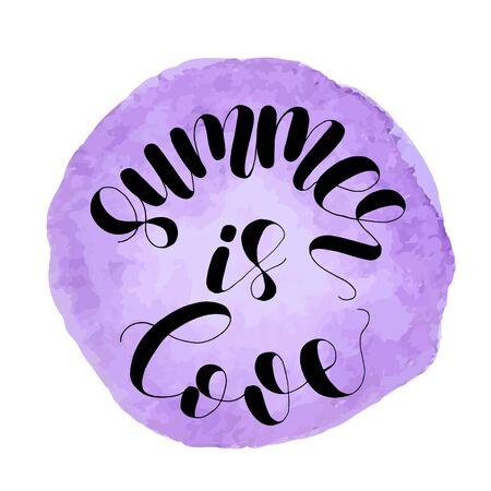 Sommer ist Liebe. Beschriftungsabbildung.