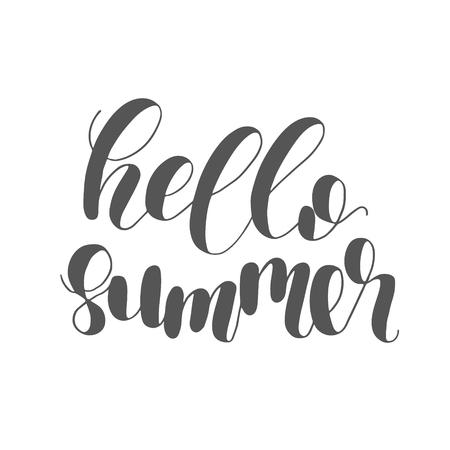 Hallo Sommer. Beschriftungsabbildung.