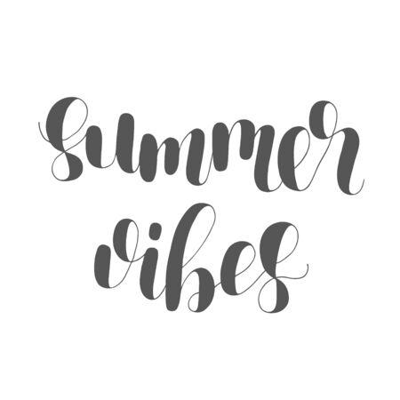 Sommergefühl. Beschriftungsabbildung. Standard-Bild