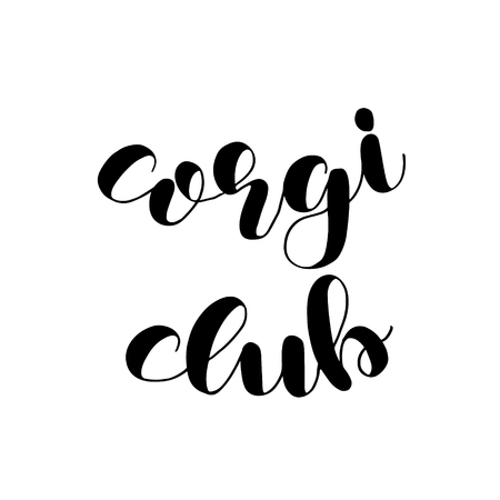 Corgi club badge, banner of template with lettering.