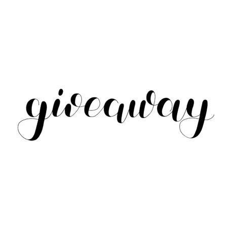 Giveaway modern lettering. Cute handwriting for promo banners for social media contests, special offers and more.  イラスト・ベクター素材