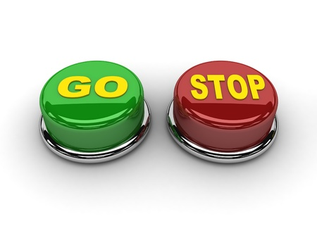 Go stop buttons  Concept 3D illustration Stock Illustration - 17273028