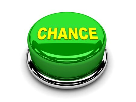 3d button green chance start push  photo