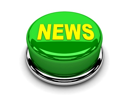 3d button green news push  photo