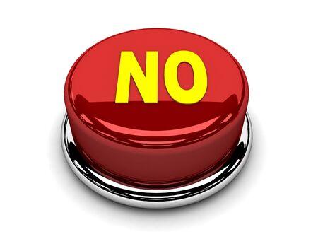 disagreement: 3d button red no stop disagreement push