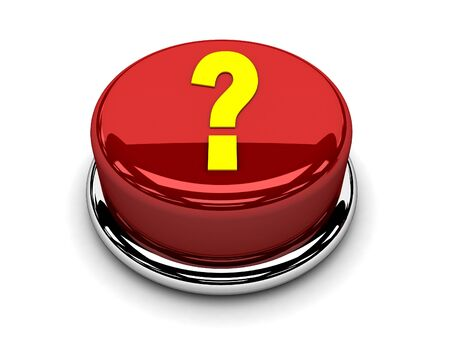 3d button red question stop push Stock Photo - 17451389