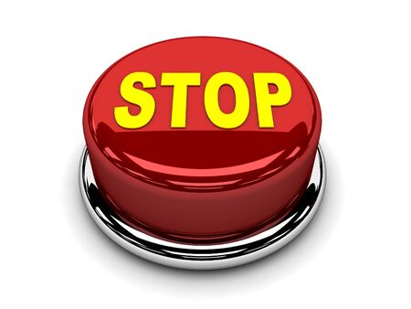 3d button red stop break push photo
