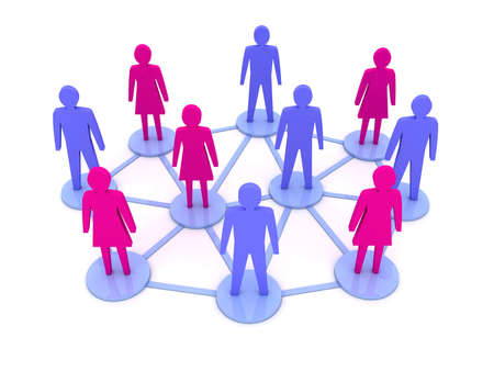People connections  Social Network  Concept 3D illustration