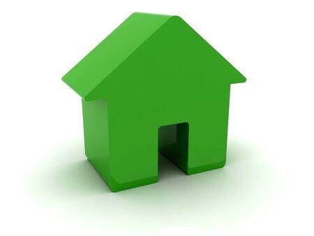 3D green house  Concept illustration  Stock Illustration - 17612176