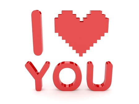Heart and i love you text
