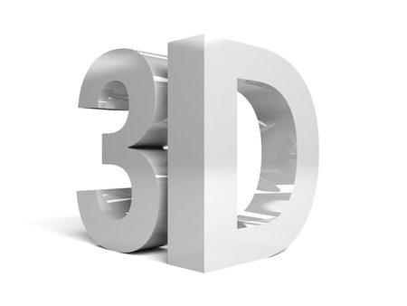 Word 3D on white background  Concept 3D illustration Stock Photo
