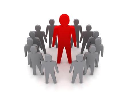 Team leader. Boss company. VIP. Concept 3D illustration.