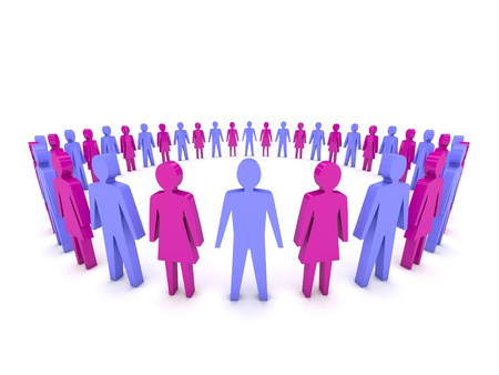 Group of People  Concept 3D illustration Stock Illustration - 18245589