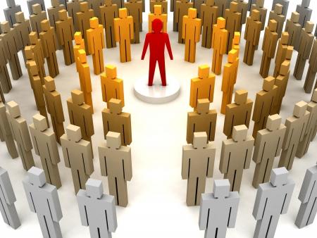 Führung Power-Konzept 3D-Darstellung