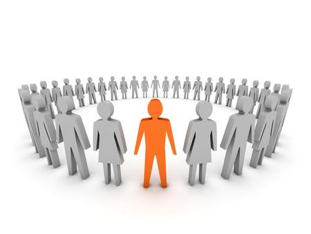Unique. Group of People. Concept 3D illustration Stock Illustration - 18379687