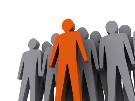 Teamleiter Firmenchef Teamwork Konzept 3D-Darstellung