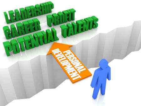 Personal development is the bridge to successful life. Concept 3D illustration. illustration