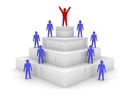 high society: Social hierarchy. Leadership. Concept 3D illustration.