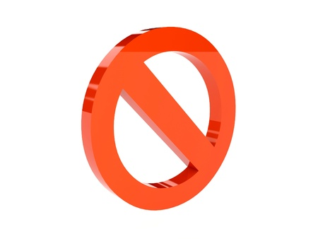 Stop icon over white background. Concept 3D illustration. illustration