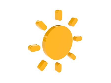 Sun icon over white background. Concept 3D illustration. illustration