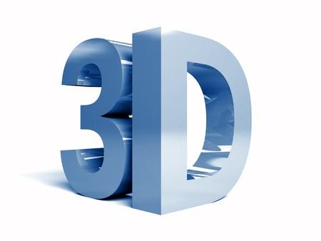 Word 3D on white background. Concept 3D illustration illustration