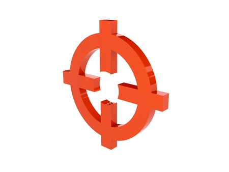 Target icon over white background. Concept 3D illustration. illustration