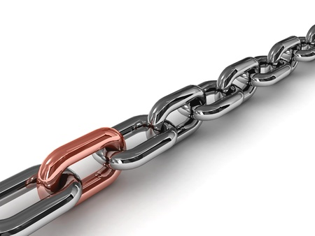 Strong link. Concept 3D illustration. Stock Photo