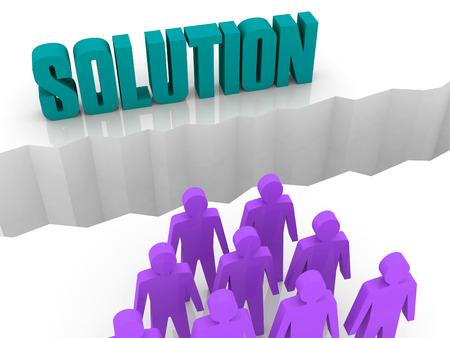 Team can not find a SOLUTION. Concept 3D illustration. Stock Illustration - 22386223
