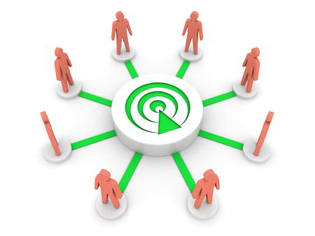 listeners: Team broadcast. Podcast listeners. Concept 3D illustration.