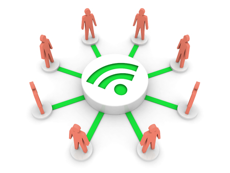 Wireless Internet. Online conference. Concept 3D illustration. illustration