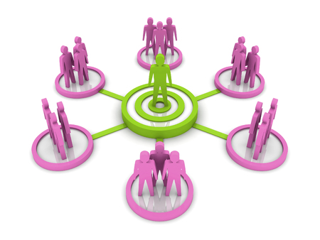 Business Network. Group leader. Concept 3D illustration. illustration