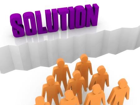 Team can not find a SOLUTION. Concept 3D illustration. Stock Illustration - 22961411