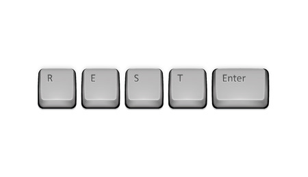 Word Rest on keyboard and enter key. Vector concept illustration. Vector