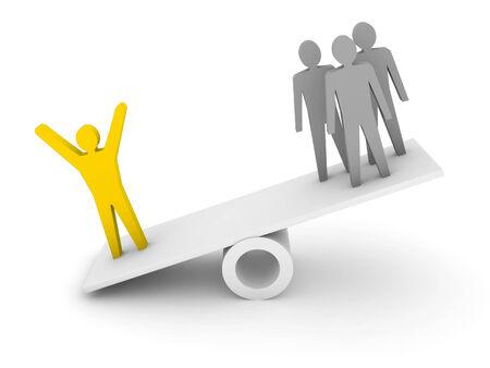 professionalism: Professionalism, competence metaphor  Concept 3D illustration.