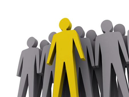 Csapatvezető csapatmunka fogalma 3d illusztráció