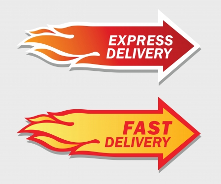 fast delivery: Express and Fast Delivery symbols