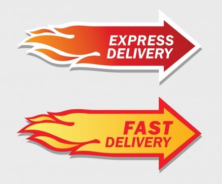 Expressz és a gyors szállítást szimbólumok