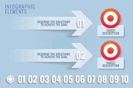 Infographic elements of Targets and solutions. Stock Vector - 26860597
